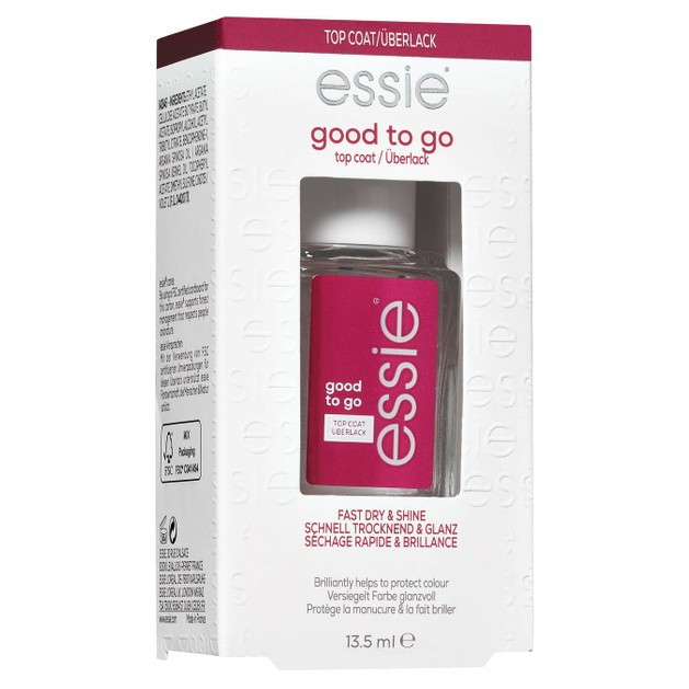 Essie Nail Care Good To Go Top Coat για Γρήγορο Στέγνωμα, Λάμψη & Προστασία από το Κιτρίνισμα 13.5ml