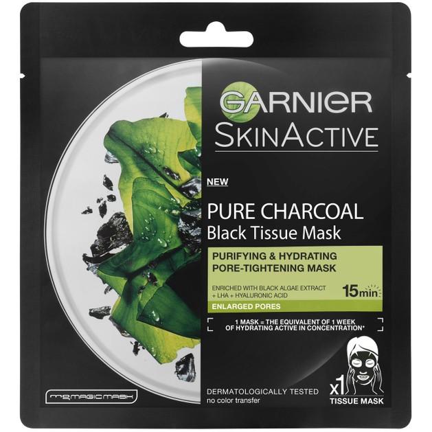 Garnier Pure Charcoal Black Tissue Mask 28gr