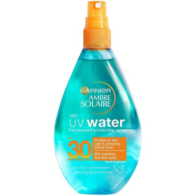 Garnier Ambre Solaire UV Water Transparent Protecting Spray Spf30 Διάφανο Αντηλιακό Spray Υψηλής Προστασίας 150ml