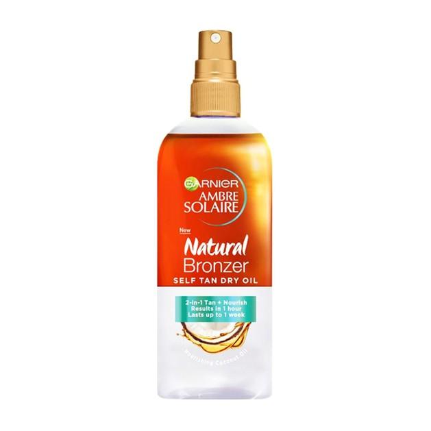Garnier Ambre Solaire Natural Bronzer Self Tan Oil η Διφασική Φύση του Χαρίζει Αυτομαυριστικές Ιδιότητες και Ενυδάτωση 150ml