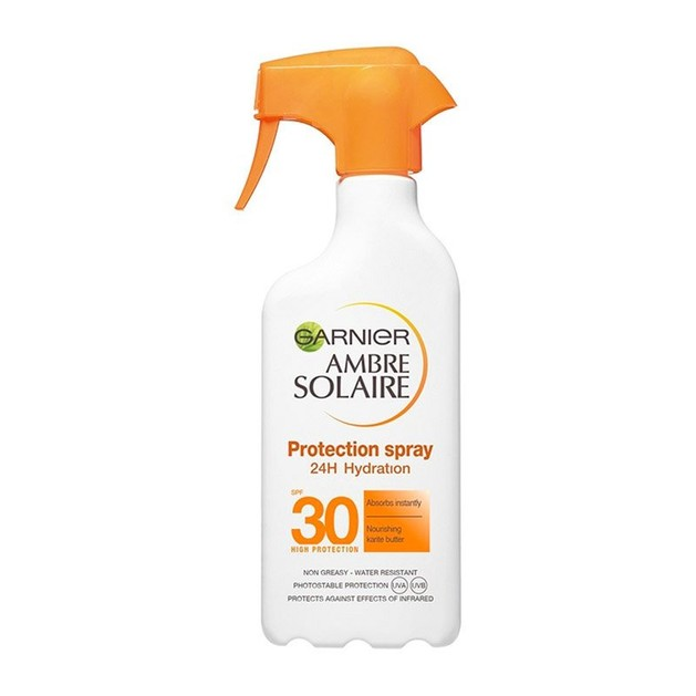 Garnier Ambre Solaire Protection 24h Hydration Spf30 Trigger Spray Υψηλής Αντηλιακής Προστασίας για Ενυδάτωση που Διαρκεί 300ml