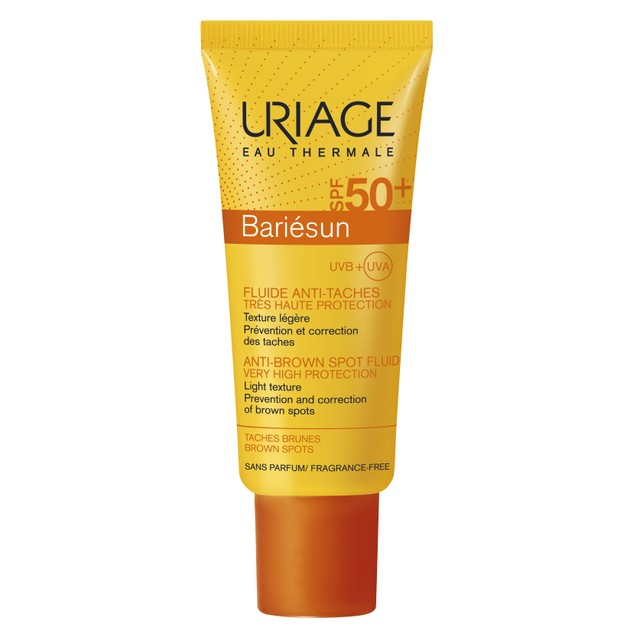 Uriage Bariesun Spf50+ Anti-Brown Spot Fluid Very High Protection Αντηλιακή Fluid Κρέμα Προσώπου Κατά των Καφέ Κηλίδων 40ml