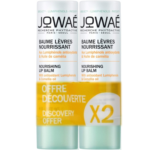 Jowae Nourishing Lip Balm Duo Θρεπτικό Balm Χειλιών Φροντίδα για Ξηρά ή Ταλαιπωρημένα Χείλη 2x4g