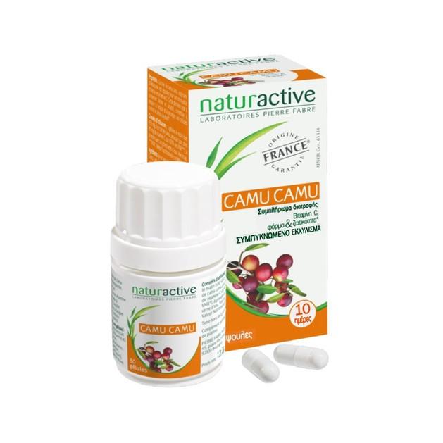 Naturactive Camu Camu Συμπλήρωμα Διατροφής που Αποτελεί Φυσική Πηγή Βιταμίνης C  30caps