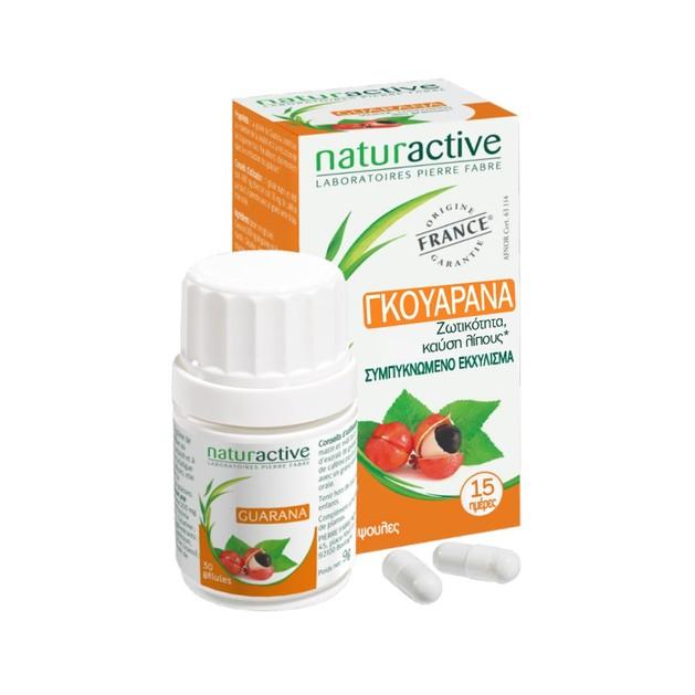 Naturactive Γκουαρανά Συμπλήρωμα Διατροφής με Διεγερτικές & Τονωτικές Ιδιότητες για τον Οργανισμό 30caps