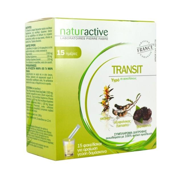 Naturactive Transit Συμβάλλει στη Βελτίωση της εντερικής κινητικότητας  15 sticks