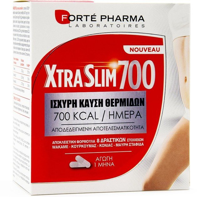 Forte Pharma Xtra Slim 700 Συμπλήρωμα Διατροφής για Απώλεια Βάρους & Ισχυρή Καύση Θερμίδων 120 caps