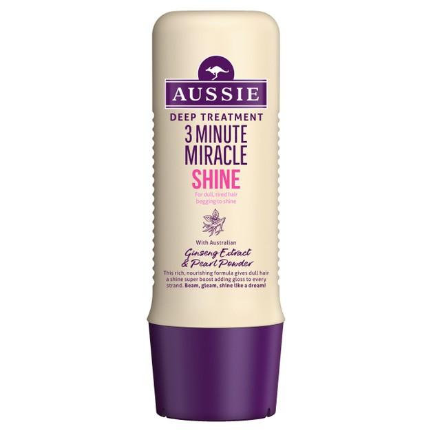 Aussie 3 Minute Miracle Shine Βαθιά Θεραπεία 3\' για Θαμπά & Ξηρά Μαλλιά 250ml