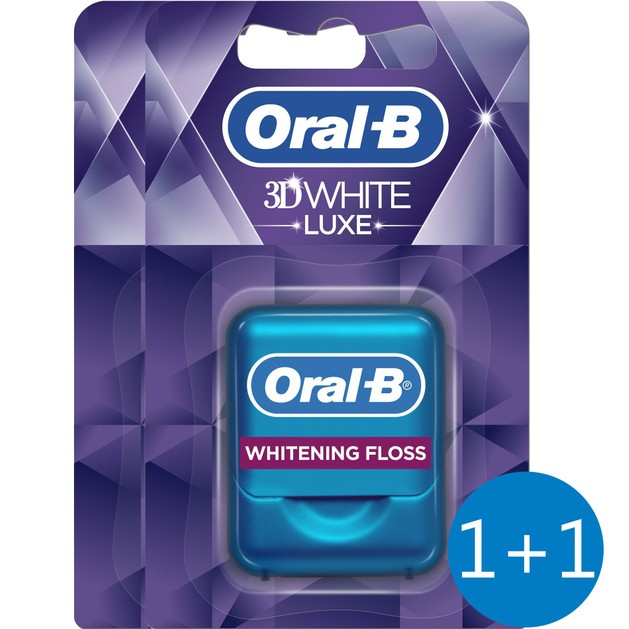 Oral-B Πακέτο Προσφοράς 3D White Luxe Οδοντικό Νήμα 35m 1+1 Δώρο