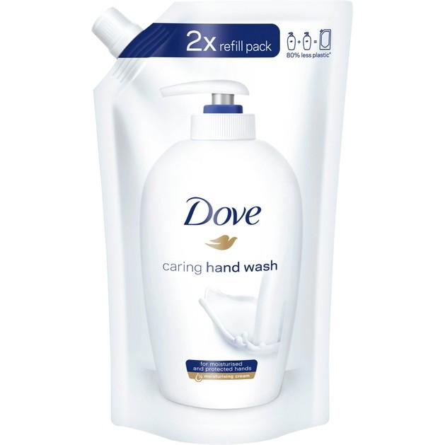 Dove Caring Hand Wash Refill Pack Υγρό Κρεμοσάπουνο Χεριών Ανταλλακτικό 500ml