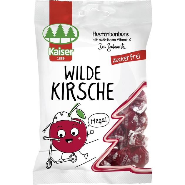 Kaiser Wild Cherry Καραμέλες για το Βήχα Χωρίς Ζάχαρη με Άγριο Κεράσι & Φυσική Βιταμίνη C 60gr