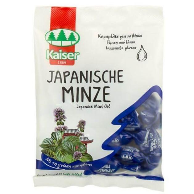 Kaiser - Japanese Mint oil Καραμέλες για τον Ερεθισμένο Λαιμό & τον Βήχα 60gr