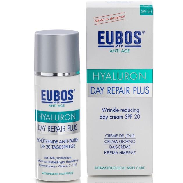 Eubos Hyaluron Day Repair Plus Spf20 Κρέμα Ημέρας για Ολοκληρωμένη Φροντίδα της Επιδερμίδας με Ενεργή Σύνθεση Υαλουρονικού 50ml