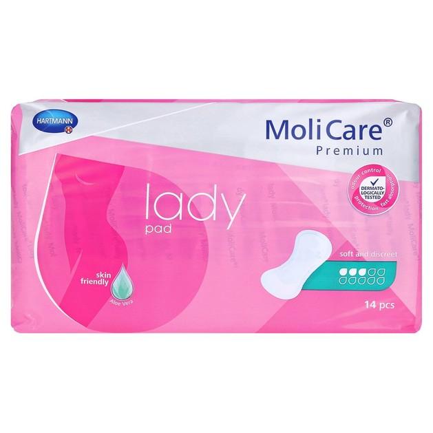 Hartmann MoliCare Premium Lady Pad Απορροφητικές Σερβιέτες για Ελαφριάς Μορφής Ακράτεια 14 Τεμάχια