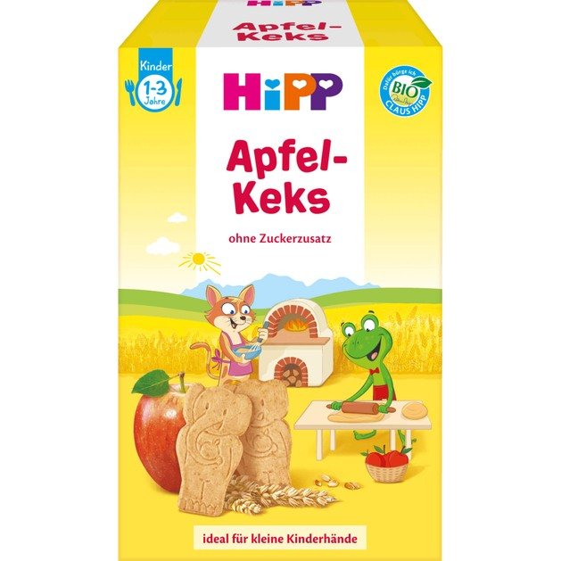 Hipp Παιδικό Βιολογικό Μπισκότο Μήλου Χωρίς Προσθήκη Ζάχαρης Από 1 Έως 3 Ετών 150gr