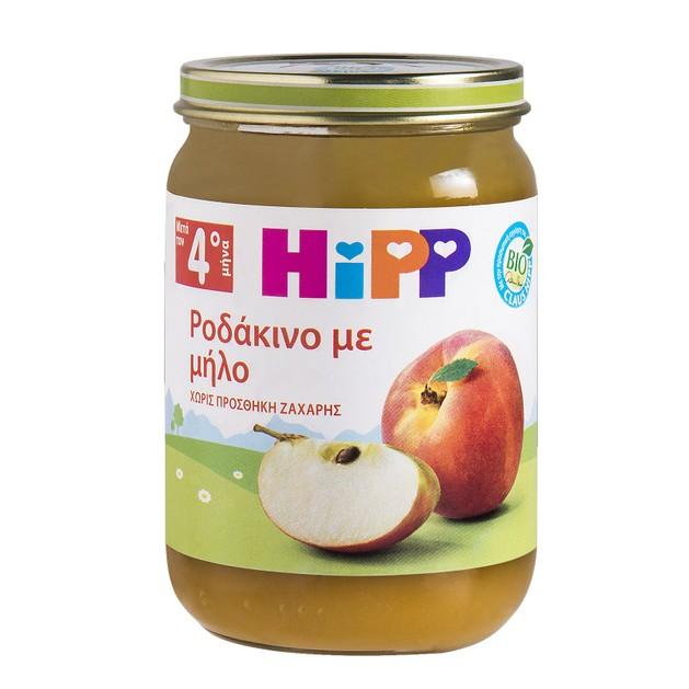 HiPP Βρεφική Φρουτόκρεμα με Ροδάκινο και Μήλο μετά τον 4ο μήνα 190g