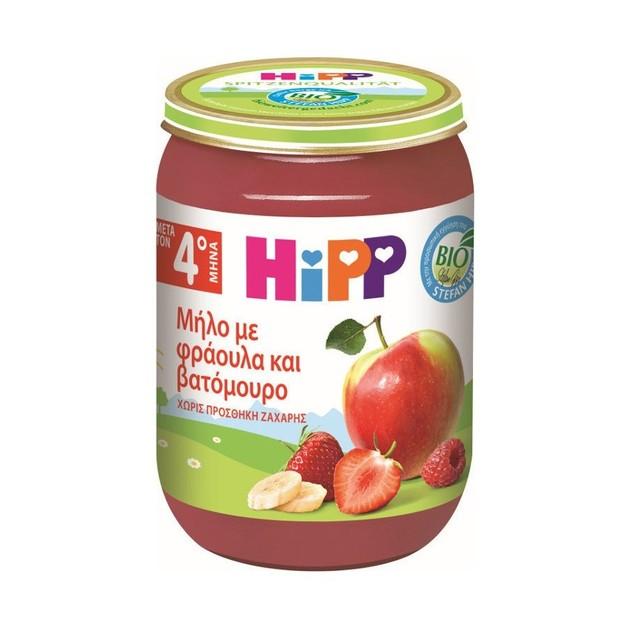 Hipp Παιδική Φρουτόκρεμα Μήλο με Φράουλα και Βατόμουρο 190g