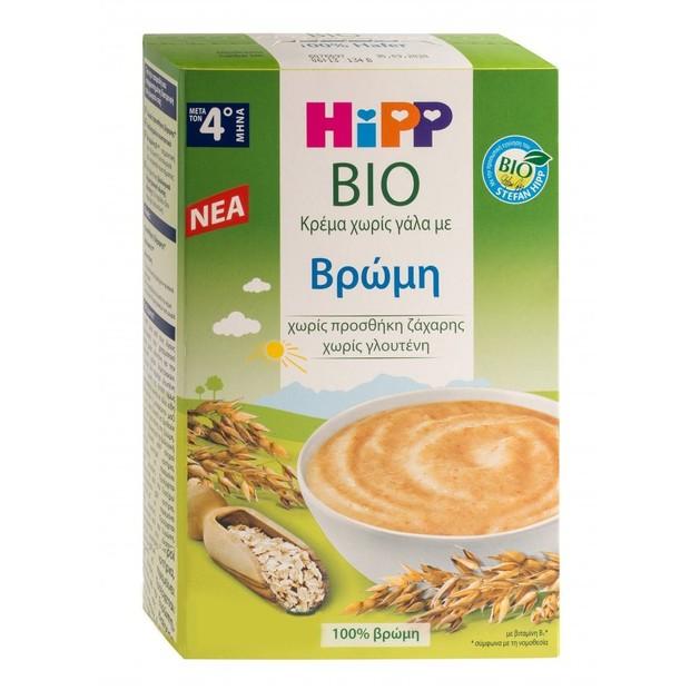 Hipp Bio Κρέμα Χωρίς Γάλα με Βρώμη, Μετά τον 4ο Μήνα 200g