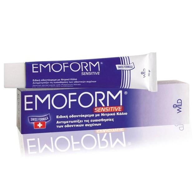 Emoform Sensitive Ειδική Οδοντόκρεμα με Νιτρικό Κάλιο για την Αντιμετώπιση της Ευαισθησίας των Δοντιών 85ml