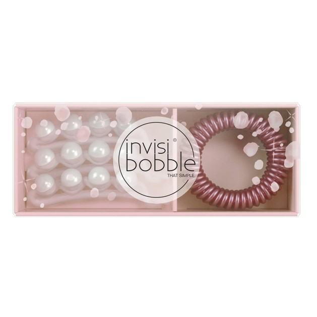 Invisibobble Sparks Flying Duo Μοναδικό Gift Box, Waver Crystal Clear 3 Τεμάχια & Slim Glitter 3 Τεμάχια