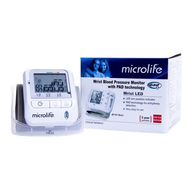 Microlife BP W1 Basic Ψηφιακό Πιεσόμετρο Καρπού 1τμχ