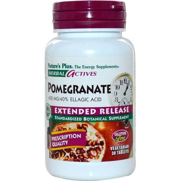 Nature\'s Plus Pomegranate Συμπλήρωμα Διατροφής με Ρόδι για την Προστασία του ΚαρδιαγγειακούΣυστήματος400mg 30 tabs