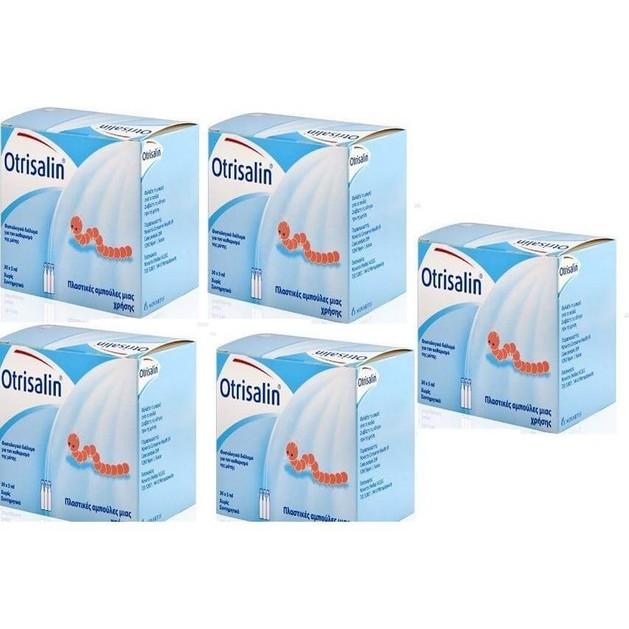 5 x Otrisalin Πλαστικές Αμπούλες 30x5 Καθαρισμός Μύτης