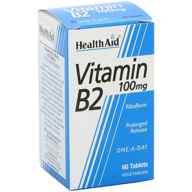 Health Aid Vitamin B2 100mg 60tabs