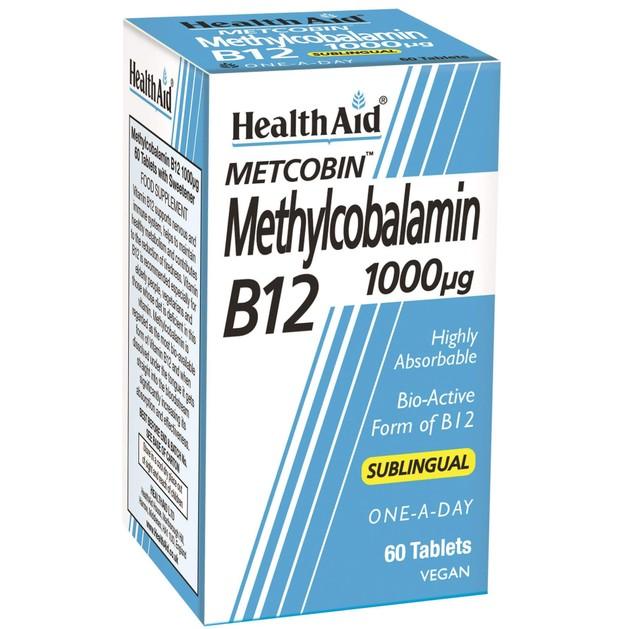Health Aid Metcobin Methylcobalamin B12 1000μg 60tabs