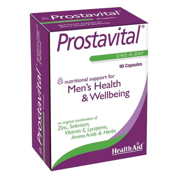 Health Aid Prostavital Συμπλήρωμα Διατροφής με Βιταμίνες, Μέταλλα & Φυτικά Εκχυλίσματα για τον Προστάτη 90caps