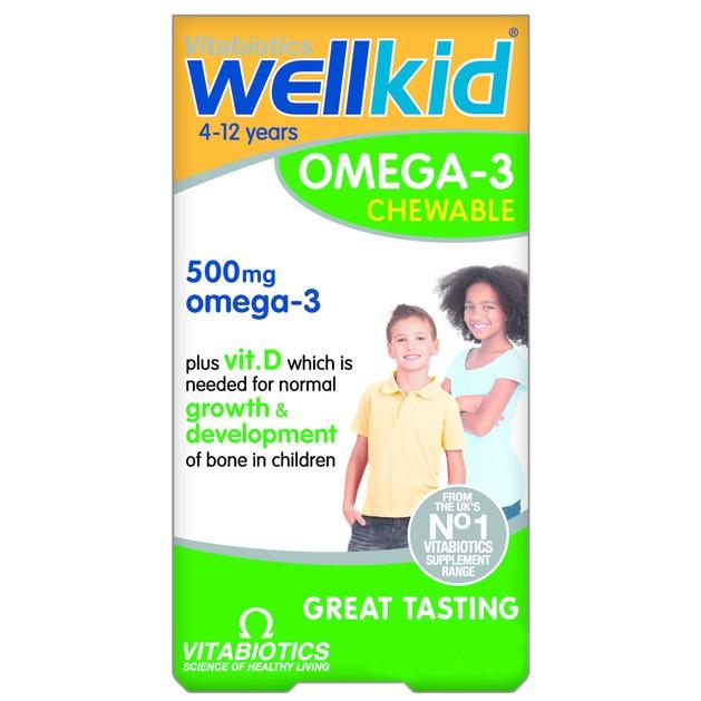 Vitabiotics Wellkid Omega 3 500mg 60 chewable tabs