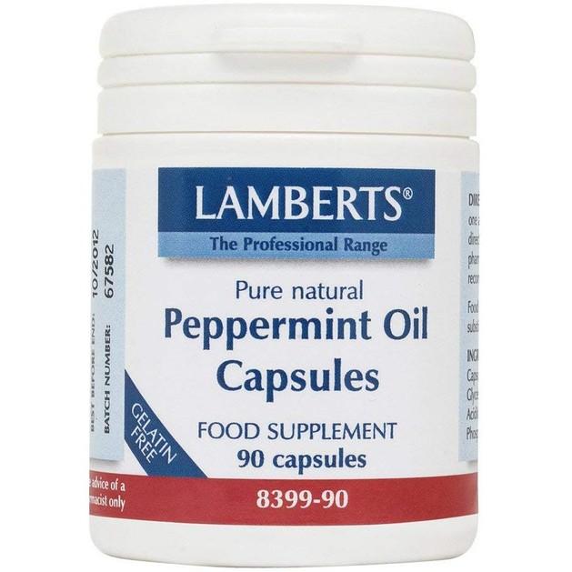 Lamberts Peppermint Oil 100mg Συμπλήρωμα Διατροφής για την Ενίσχυση της Λειτουργίας του Γαστρεντερικού Συστήματος 90 caps