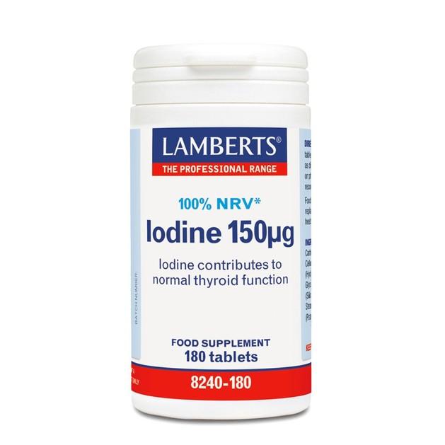 Lamberts Iodine 150mg 100% NRV 180Tabs