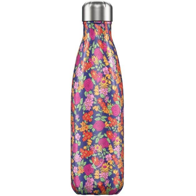 Chilly\'s Bottle Floral Edition Wild Rose Ανοξείδωτο Θερμός με Σχέδιο Λουλουδιών 500ml