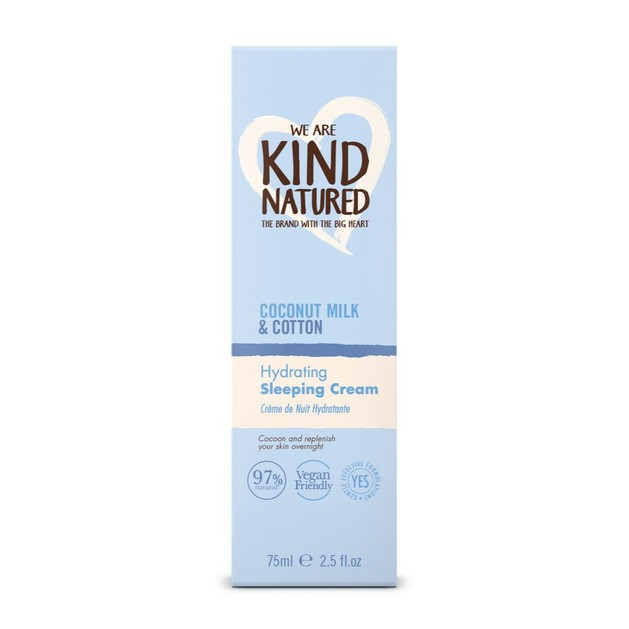 Kind Natured Hydrating Coconut Milk & Cotton Sleeping Cream Ενυδατική Θρεπτική Κρέμα Νύχτας 75ml