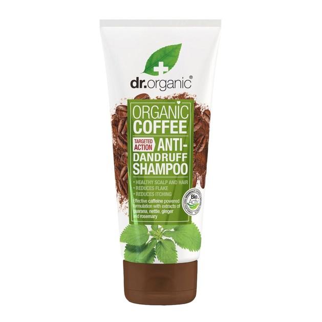 Dr. Organic Coffee Anti-Dandruff Shampoo Σαμπουάν Κατά της Πιτυρίδας 200ml