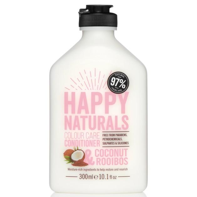 Happy Naturals Colour Care Conditioner Coconut & Rooibos Μαλακτική Κρέμα για Λάμψη & Θρέψη στα Βαμμένα Μαλλιά 300ml