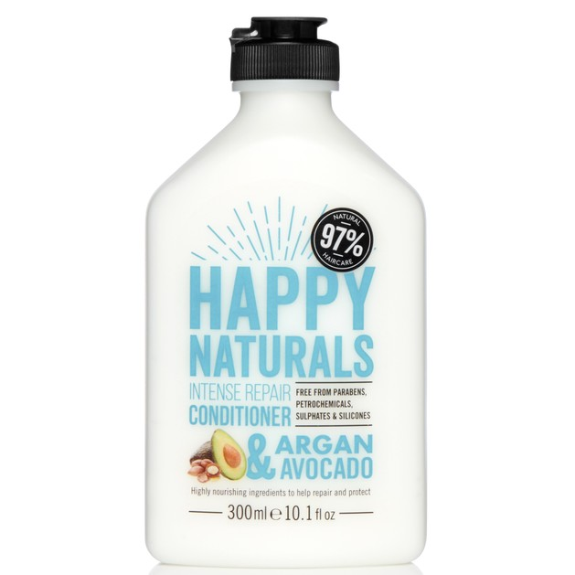 Happy Naturals Intense Repair Conditioner Argan & Avocado Μαλακτική Κρέμα Επανόρθωσης για Ξηρά & Ταλαιπωρημένα Μαλλιά 300ml