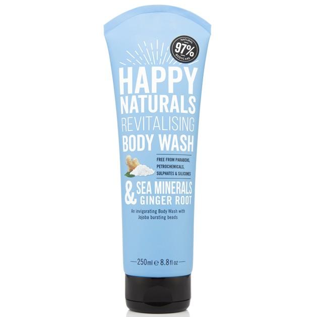 Happy Naturals Sea Minerals & Ginger Root Revitalising Body Wash Αναζωογονητικό Αφρόλουτρο για Αίσθηση Φρεσκάδας 250ml