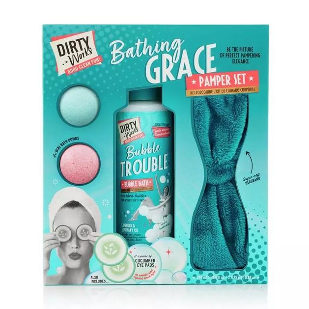 Dirty Works Bathing Grace Bubble Trouble Pamper Set
