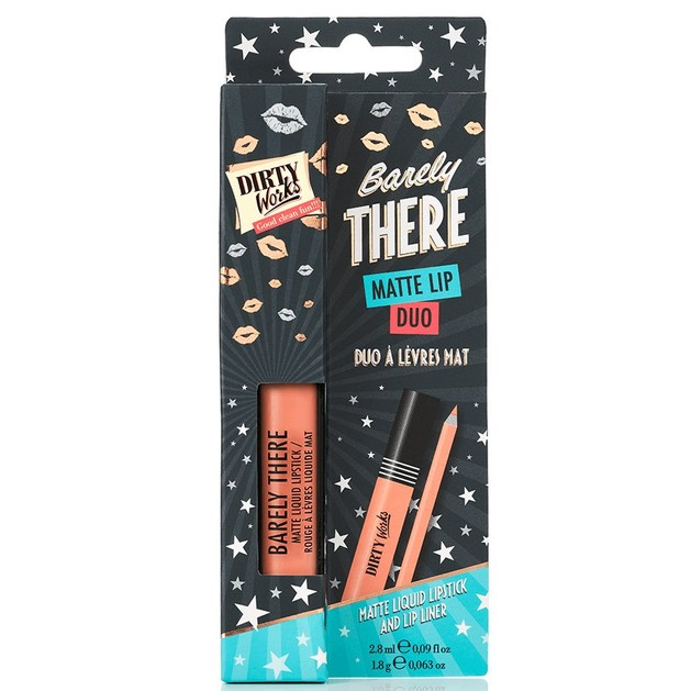 Dirty Works Barely There Matte Lip Duo 2.8ml