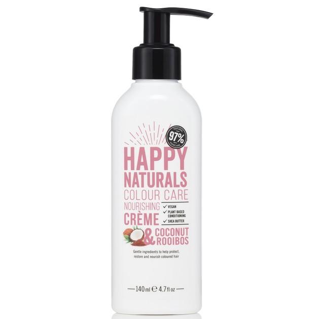 Happy Naturals Colour Care Nourishing Creme Coconut & Rooibos Υπερθρεπτική Κρέμα για Λάμψη & Ενυδάτωση στα Βαμμένα Μαλλιά 140ml