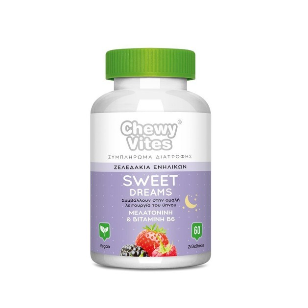 Chewy Vites Sweet Dreams Συμπλήρωμα Διατροφής για Ενήλικες που Συμβάλουν στην Ομαλή Λειτουργία του Ύπνου 60 Ζελεδάκια