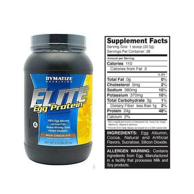 Dymatize Elite Egg Protein 100% Πρωτεΐνη Αυγού 2 lbs 906g