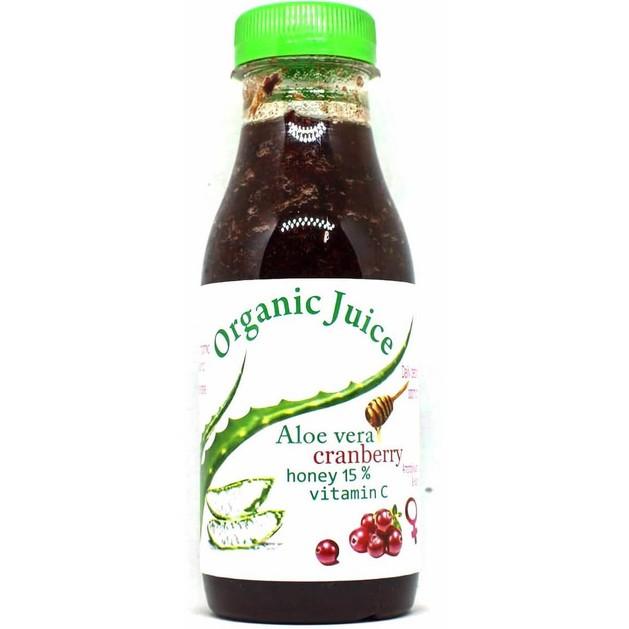 Erythro Forte Organic Juice Aloe Vera Χυμός Αλόης Cranberry Συμβάλλει στην Αποτοξίνωση & στην Καλή Υγεία του Οργανισμού 500gr