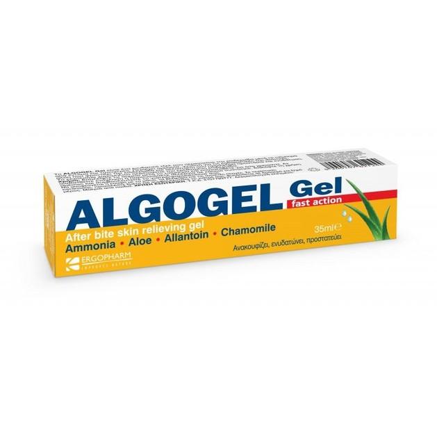 Algogel After Bite Skin Relieving Gel Fast Action Ενυδατικό Gel με Αμμωνία, Ανακουφίζει & Προστατεύει από τα Τσιμπήματα 35ml