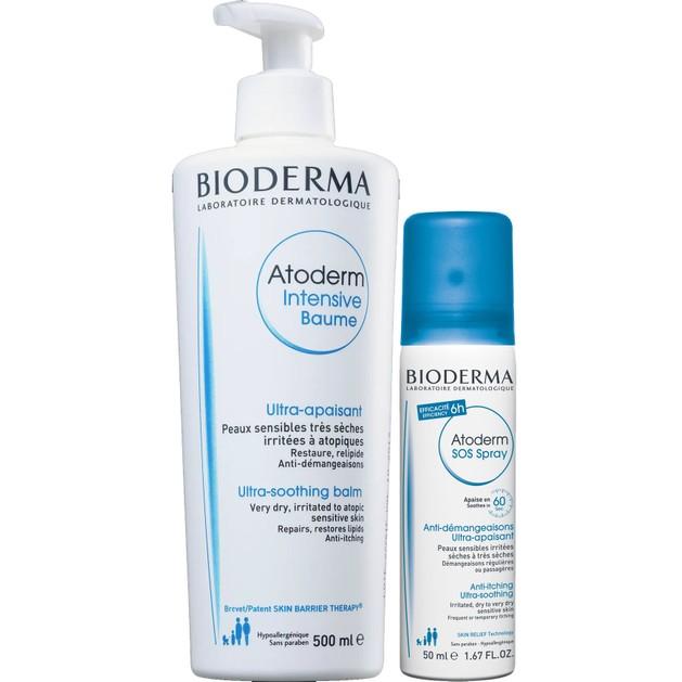 Bioderma Πακέτο Προσφοράς Atoderm Intensive Baume Καταπραϋντικό Βάλσαμο 500ml & Δώρο Atoderm SOS Spray Κατά του Κνησμού 50ml