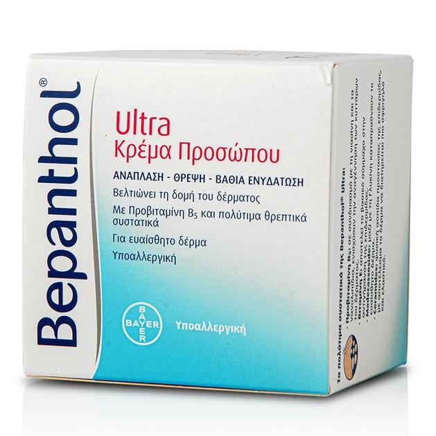 Bepanthol Face Cream Ultra Κρέμα Αναδόμησης για το Πρόσωπο 50ml Promo -20%