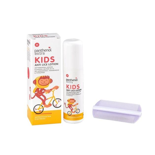 Panthenol Extra Kids Anti-Lice Lotion Παιδική Αντιφθειρική Λοσιόν 125ml & Χτενάκι 1 Τεμάχιο