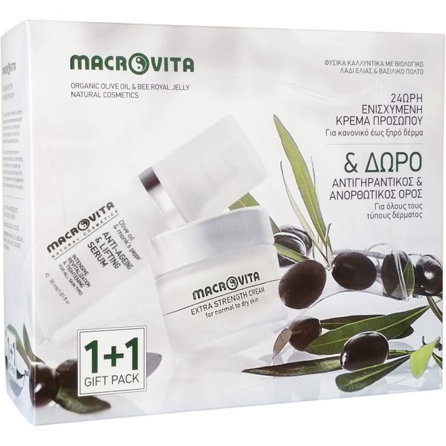 Macrovita Πακέτο Προσφοράς Extra Strenght Cream for Normal / Dry Skin 40ml & Δώρο Anti-Ageing & Lifting Serum 30ml